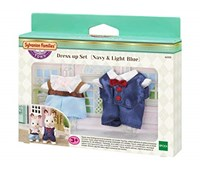 SYLVANIAN FAMILIES - Set abiti per Due (Navy & Light Blue)